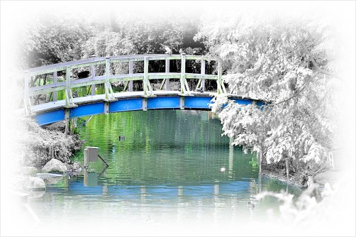 blue bridge - regent's park