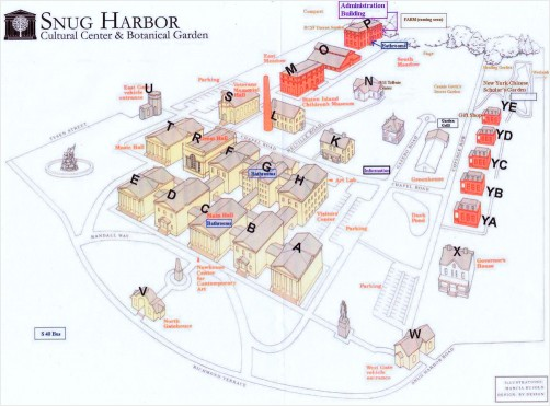 Diagram of Snug Harbor Cultural Center and Botanical Garden