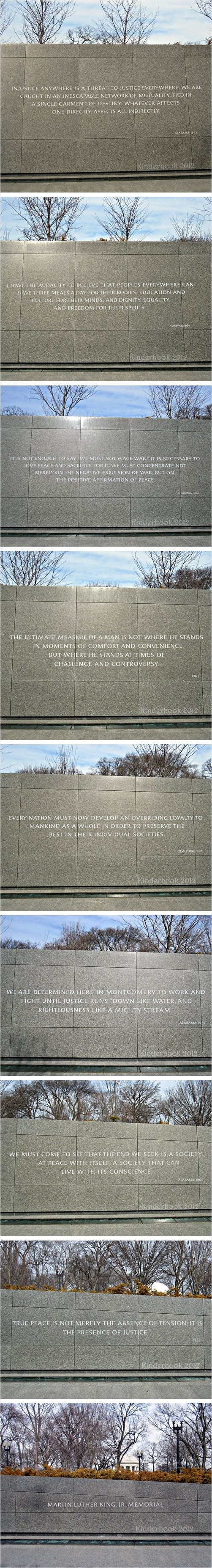 MLK, Jr. National Memorial: Quotes on North Wall