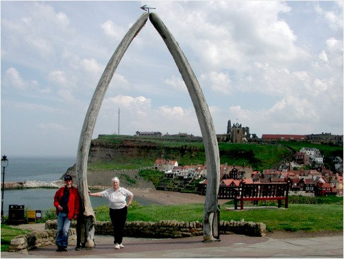 The whale jaw bone arch Whitby