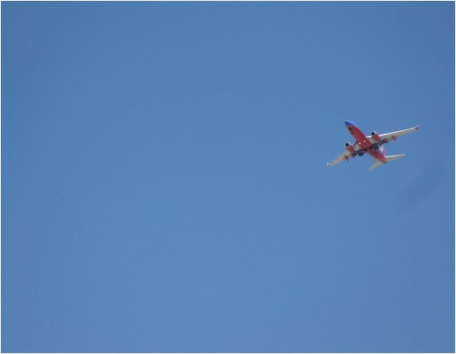 Airplane in Blue Sky, Tempe, Arizona
